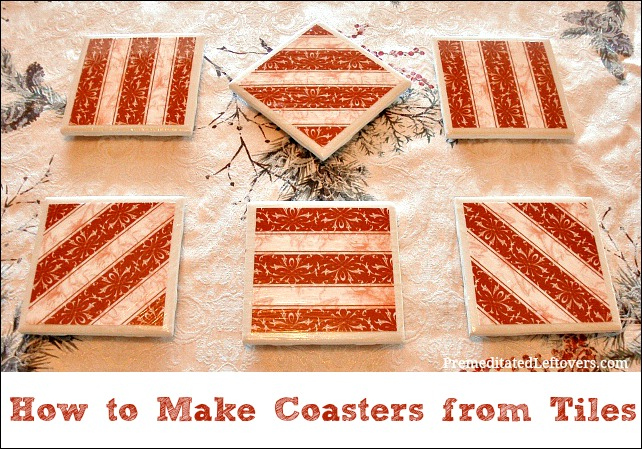DIY How to Make Coasters with Tiles