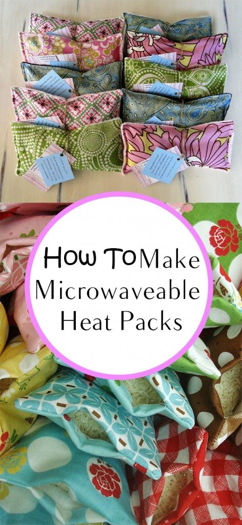A heat pack you can make at home: DIY Microwaveable Heat Packs