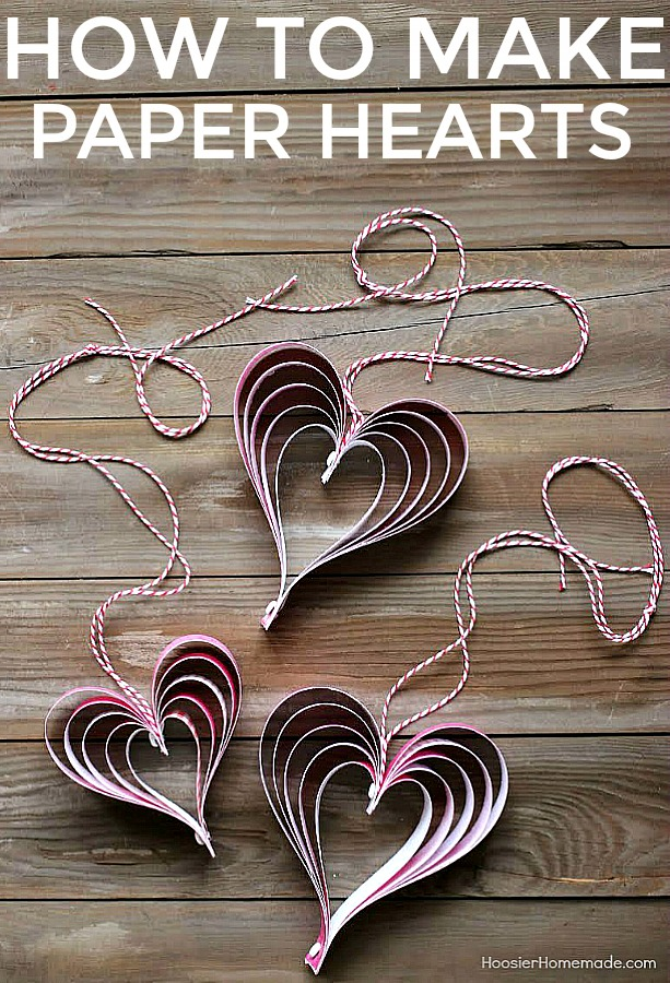 how to make paper hearts step by step photos and instructions on how to make - Valentine Paper Crafts