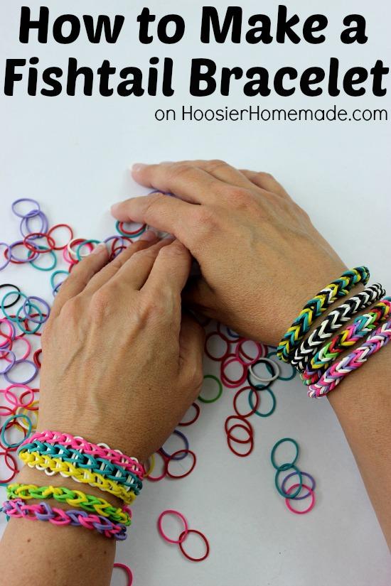 How To Make A Fishtail Bracelet Instructions On Hoosierhomemade
