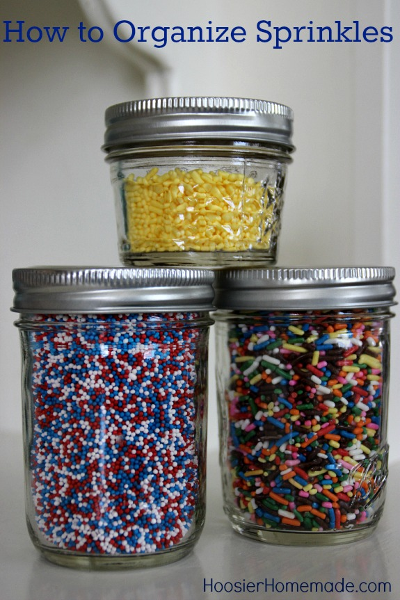 Ready to get organized? Sprinkles fans - this is for you! Learn How to Organize Sprinkles and be able to find what you have once and for all! Pin to your Organizing Board!
