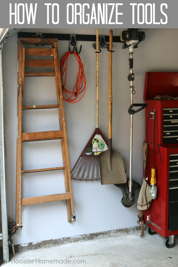 Rakes - Shovels - Ladders - the list goes on and on! Learn How to Organize Tools in your garage once and for all! Click on the Photo to get Organized!
