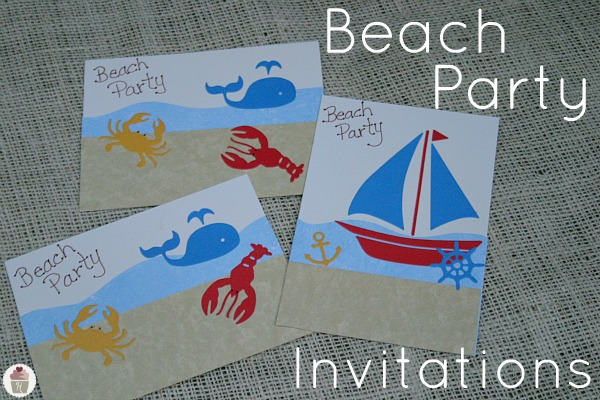 how to make pool party invitations