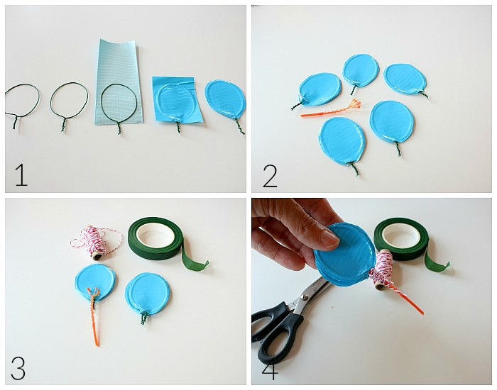 Instructions to make Duck Tape Flowers