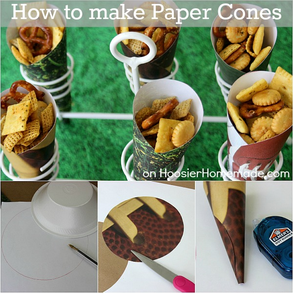 How to make Paper Cones | Instructions on HoosierHomemade.com