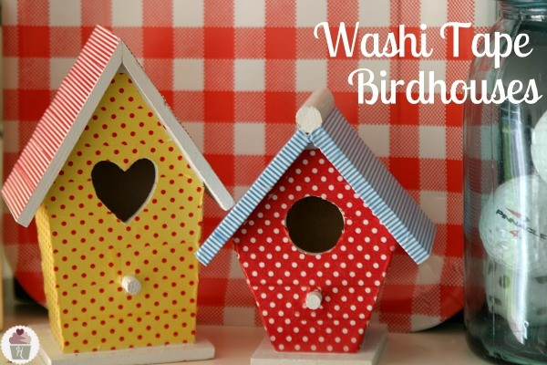 How to make Washi Tape Birdhouses :: HoosierHomemade.com