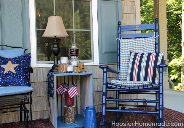 4th of July Front Porch Decorating Ideas - Hoosier Homemade
