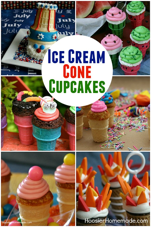 Bake a cupcake right in an Ice Cream Cone for a fun treat! Have the & Ice Cream Cone Cupcake Recipes - Hoosier Homemade