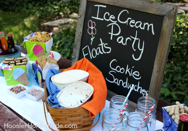 How to Host an Ice Cream Party :: on HoosierHomemade.com