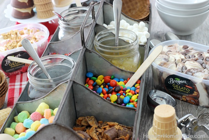 GELATO SUNDAE BAR -- Create this incredible Sundae Bar in minutes! Perfect for ANY celebration!