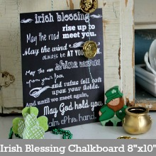 Irish Blessing Chalkboard-page
