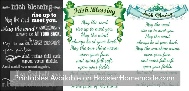 picture about Printable Irish Blessing titled Printable Chalkboard Irish Blessing - Hoosier Handmade