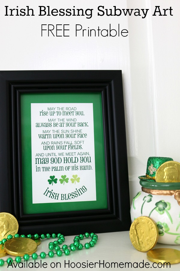 This classic from Old Ireland; Irish Blessing is made into a fun Subway Art Printable for you to use to decorate with or give as a gift! Available in 2 sizes! Pin to your St. Patrick's Day Board!