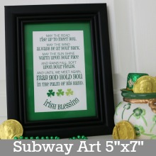 Irish Blessing Subway Art.Page