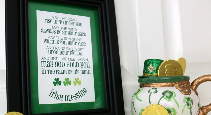 Irish Blessing Subway Art