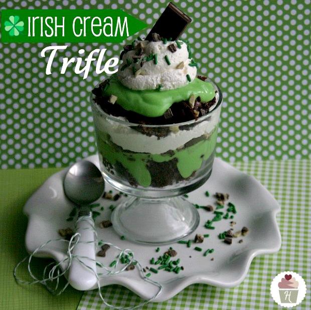 Irish Cream Push Pops For St. Patrick's Day