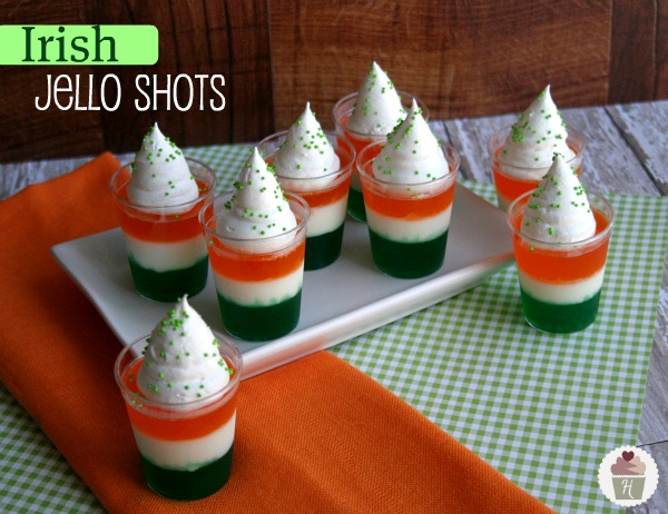 Irish Jello Shots :: Recipe on HoosierHomemade.com