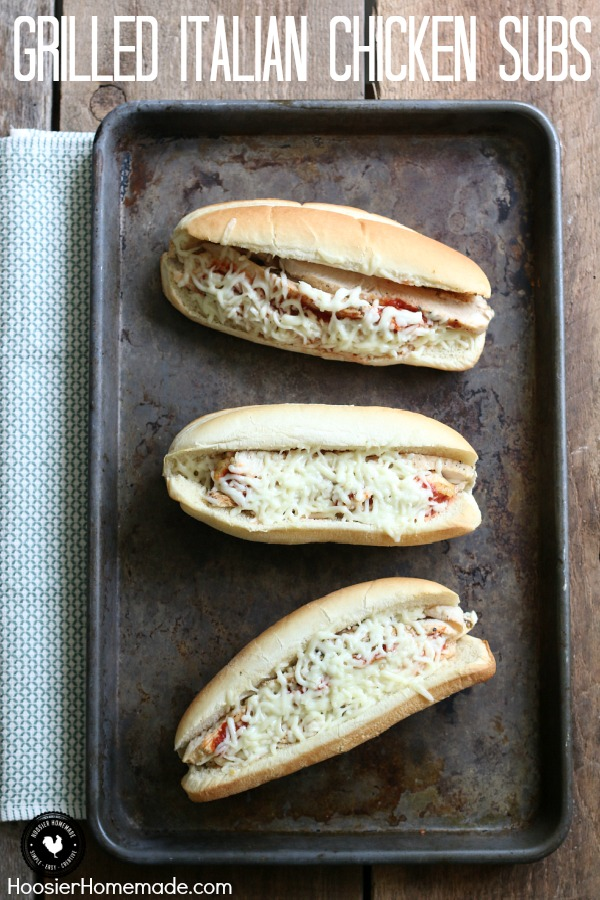 Only 5 ingredients is all you need for these delicious Grilled Italian Chicken Subs! They will quickly become a family favorite! Click on the photo to grab the recipe!
