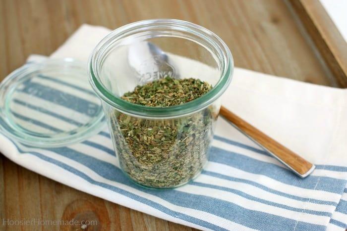 Italian Seasoning in a jar