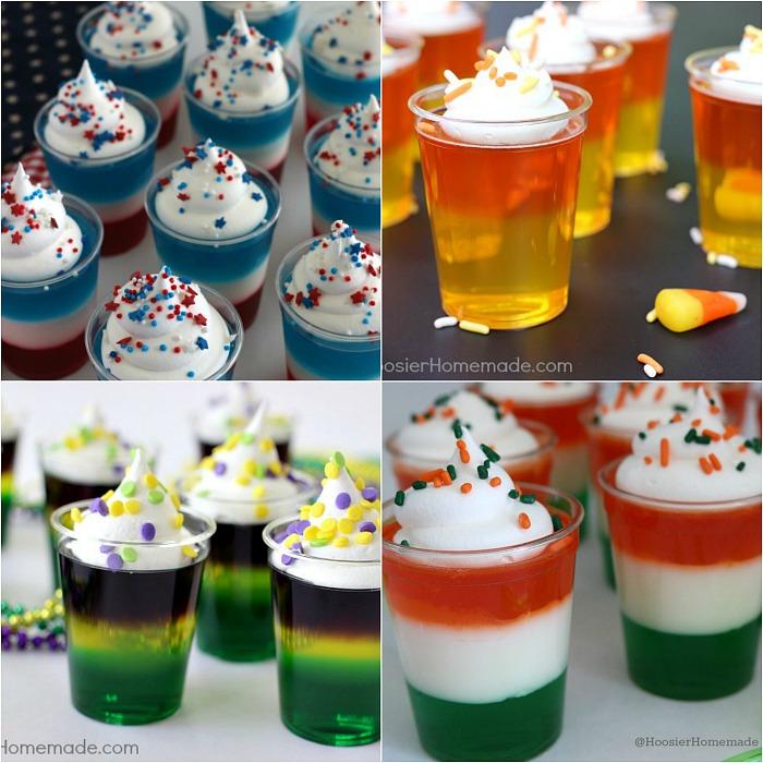 Fun holiday themed Jello Shots