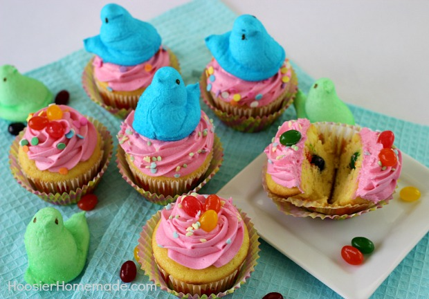 Cake Recipe Jelly Beans: Easter Cupcakes: Jelly Bean Surprise