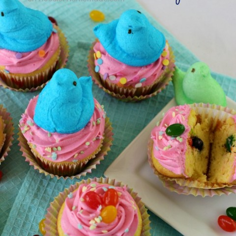 Easter Cupcakes: Jelly Bean Surprise