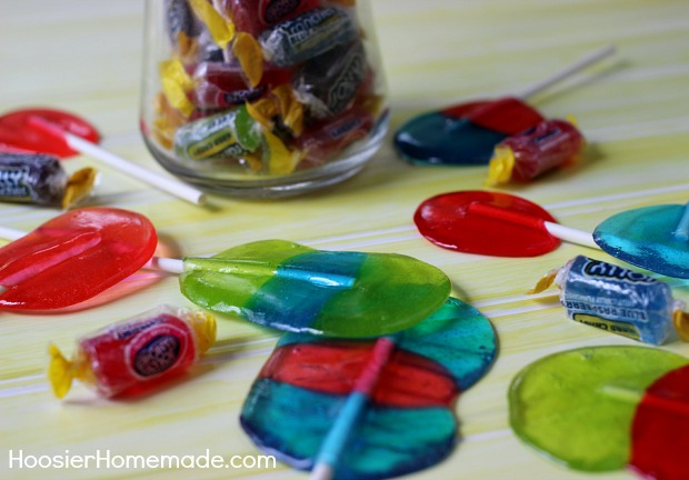 Homemade Jolly Rancher Lollipops | Recipe on HoosierHomemade.com