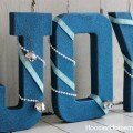 Simple Glitter Letters | Holiday Craft | Instructions on HoosierHomemade.com