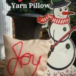 DIY Joy Yarn Pillow