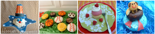July Cupcakes collage