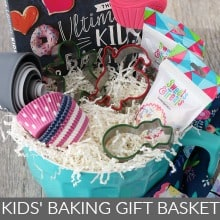 Kids Baking Gift Basket
