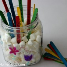 Kid's Spring Activity Jar | Instructions on HoosierHomemade.com