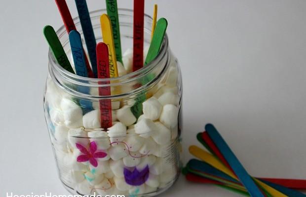 Kid's Spring Activity Jar | Instructions on HoosierHomemade.com