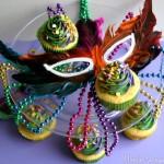 King Cake Cupcakes - February 2012