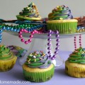 King Cake Cupcakes for Mardi Gras | Recipe on HoosierHomemade.com