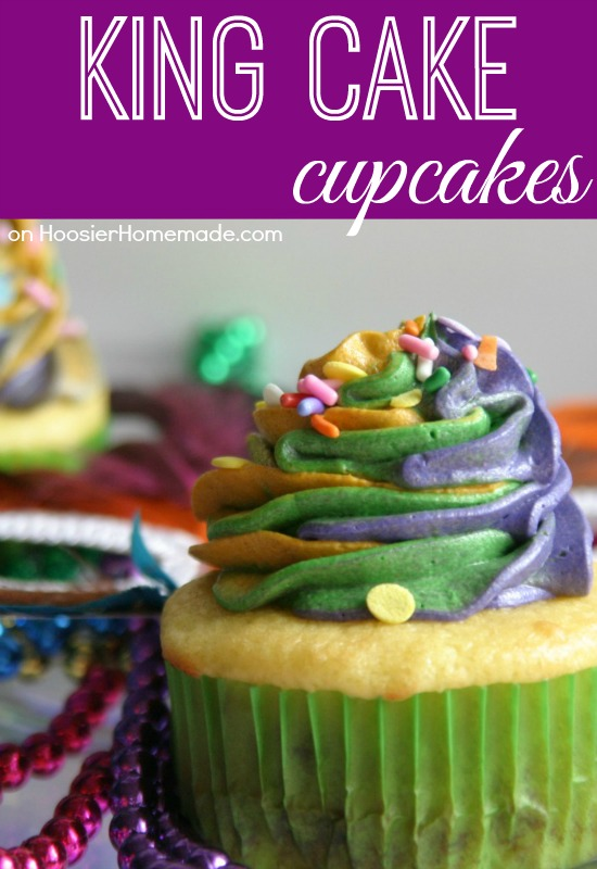 ... Mardi Gras…these cupcakes are still yummy, just change the color of