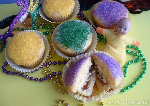Mardi Gras King Cake Cupcakes Recipe — Dishmaps