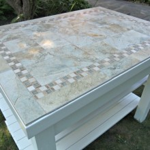 How to add tile to a Kitchen Island :: HoosierHomemade.com