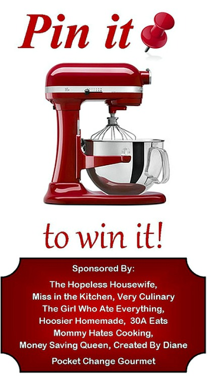 KitchenAid Giveaway: Pin it to Win it :: HoosierHomemade.com