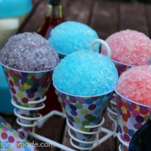 Homemade Snow Cones : 3 Ingredient Syrup Recipe on HoosierHomemade.com