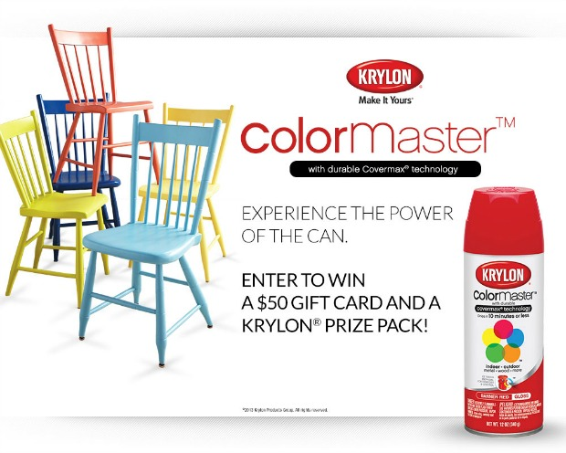 Krylon ColorMaster giveaway on hoosierhomemade.com