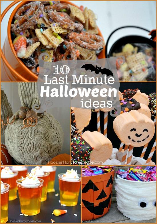 10 Last Minute Halloween Ideas on HoosierHomemade.com