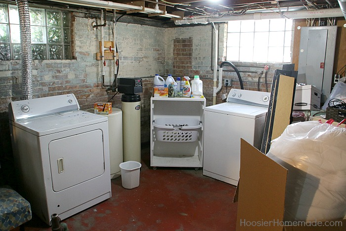 LAUNDRY ROOM MAKEOVER -- Doing Laundry is a must! Why not have a space that you love? This before and after will SHOCK you!