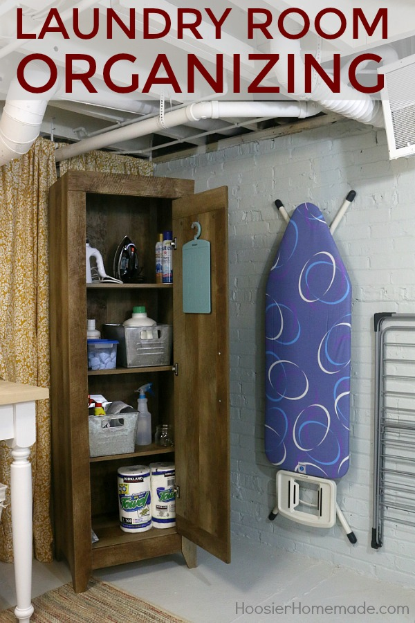 LAUNDRY ROOM ORGANIZING IDEAS -- Keeping your space organized is half the battle when the laundry is piling up! These simple, easy ideas will help!
