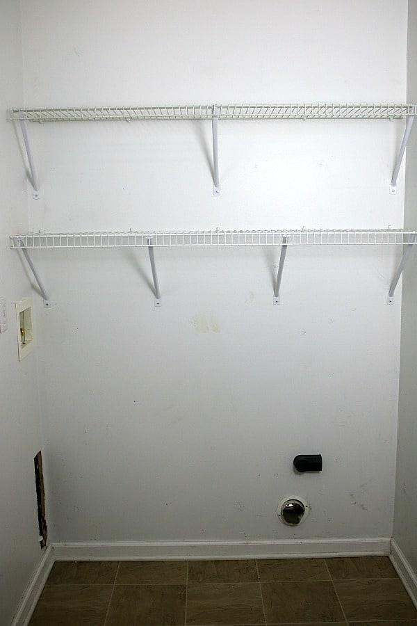 Before photo of Small Laundry Room