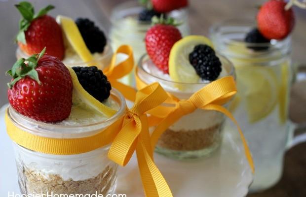 Lemon Berry Cheesecake | Recipe on HoosierHomemade.com