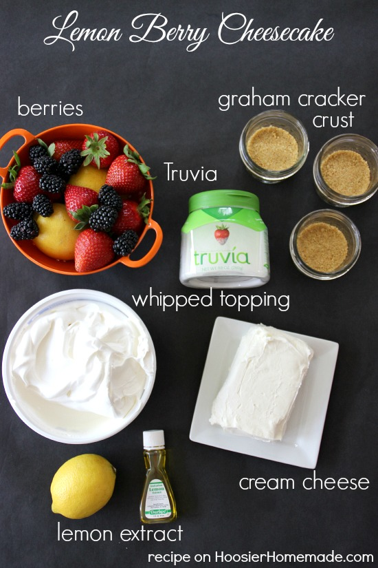 Lemon Berry Cheesecake | No Bake | Recipe on HoosierHomemade.com