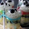 Lemon Blueberry Angel Food Cake in a Jar :: Recipe on HoosierHomemade.com