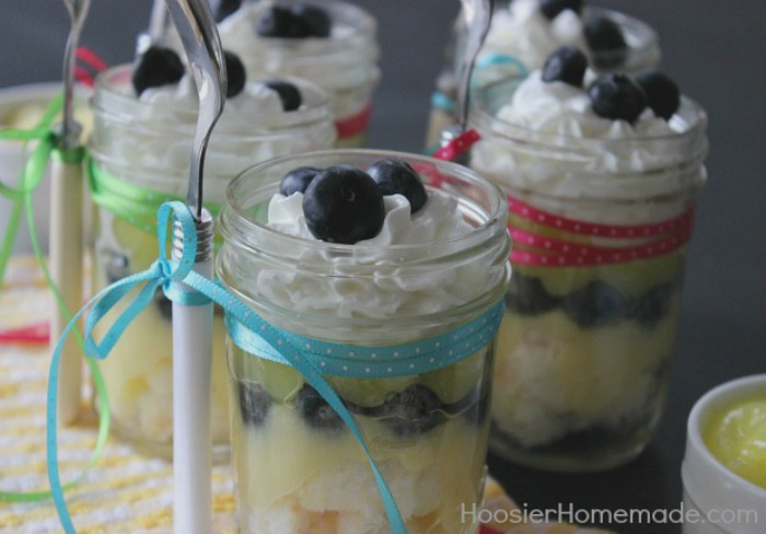 Lemon Blueberry Dessert in a Jar
