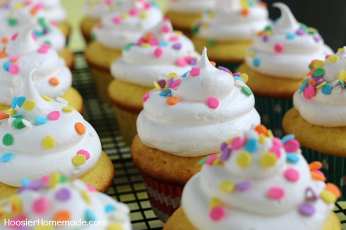 Lemon Cupcakes with Marshmallow Frosting